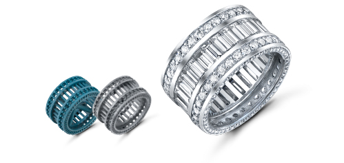 Custom Jewelry Design - Eternity Bands