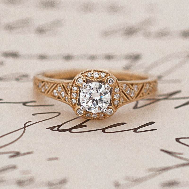 earth brilliant engagement moissanite mixed rings metal woven custom ring